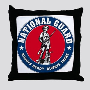 National Guard Logo Throw Pillow