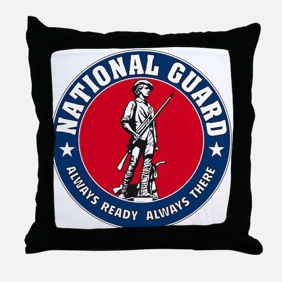 National Guard Logo Throw Pillow