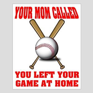 Funny Baseball Saying Small Poster