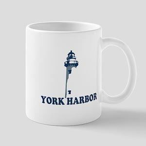 York Harbor ME - Lighthouse Design. Mug