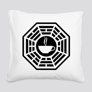 Java Station Square Canvas Pillow