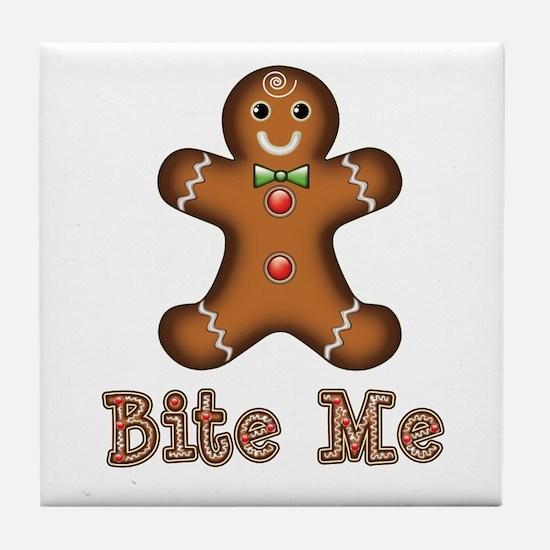 Gingerbread Man Tile Coaster