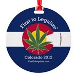 First to Legalize Round Ornament