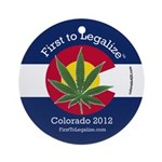 First to Legalize Ornament (Round)