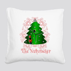 Nutcracker Ballet Square Canvas Pillow