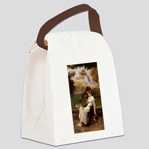 A Good Book and Your Kitty Canvas Lunch Bag