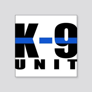 K-9 Unit Blue Line Rectangle Sticker