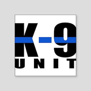 K-9 Unit Blue Line Rectangle Sticker