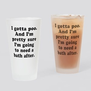 Poo Bath Drinking Glass