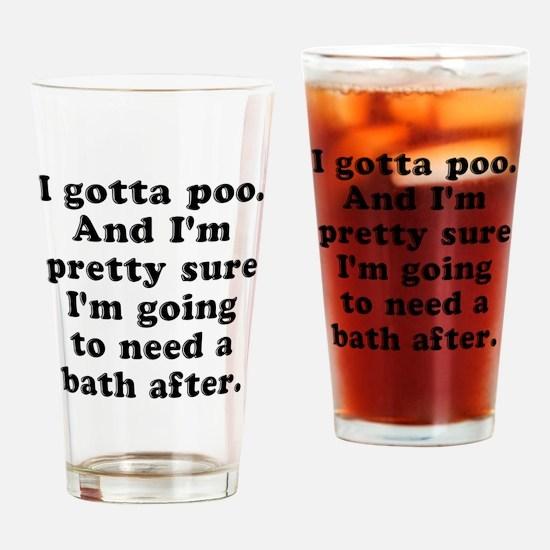 Poo Bath Drinking Glass