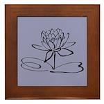 Art Deco Lotus Framed Tile
