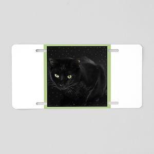 Mystical Black Cat Aluminum License Plate