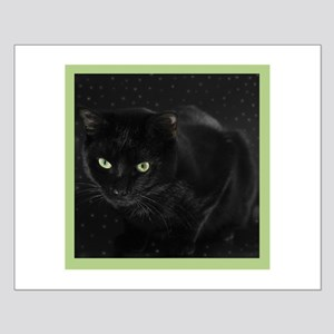 Mystical Black Cat Small Poster