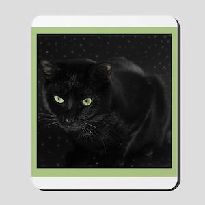 Mystical Black Cat Mousepad