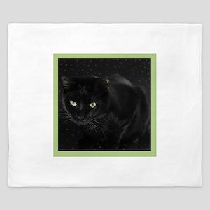 Mystical Black Cat King Duvet