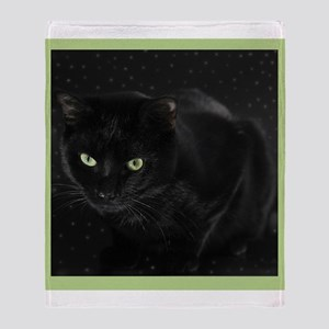 Mystical Black Cat Throw Blanket
