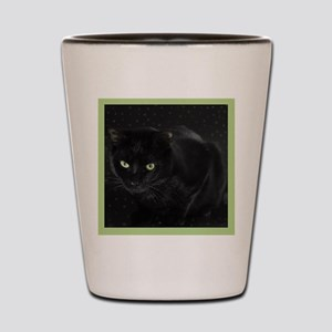 Mystical Black Cat Shot Glass