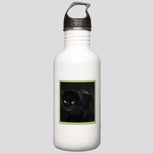 Mystical Black Cat Stainless Water Bottle 1.0L