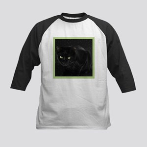Mystical Black Cat Kids Baseball Jersey