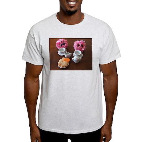 Pom Poms Having a Tea Party Light T-Shirt