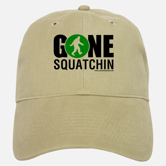 Gone Squatchin Baseball Baseball Cap Black/Green Logo