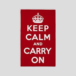 Keep Calm And Carry On 3'x5' Area Rug