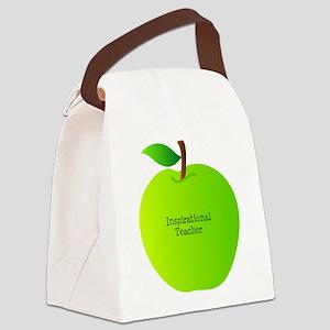 Inspirational Teacher Canvas Lunch Bag
