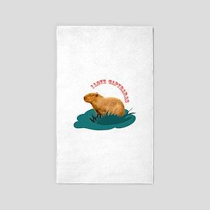 I love capybaras 3'x5' Area Rug