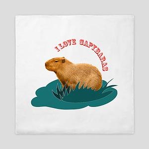 I love capybaras Queen Duvet