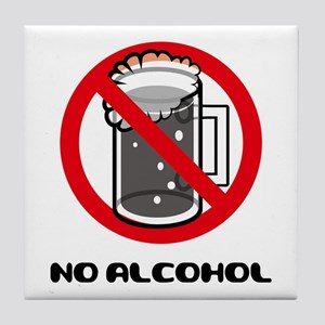 Alcohol Allergy Tile Coaster