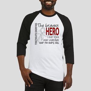 Bravest Hero I Knew Mesothelioma Baseball Jersey