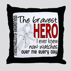 Bravest Hero I Knew Mesothelioma Throw Pillow