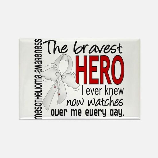 Bravest Hero I Knew Mesothelioma Rectangle Magnet