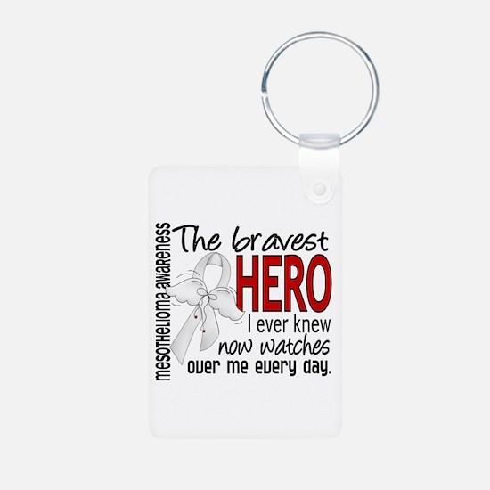 Bravest Hero I Knew Mesothelioma Keychains