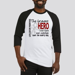 Bravest Hero I Knew Lung Cancer Baseball Jersey