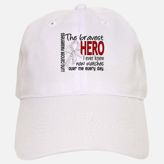 Bravest Hero I Knew Lung Cancer Baseball Baseball Cap