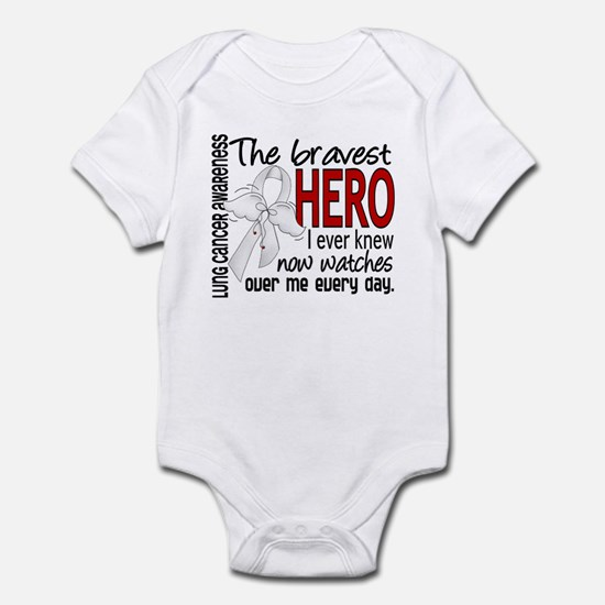 Bravest Hero I Knew Lung Cancer Infant Bodysuit