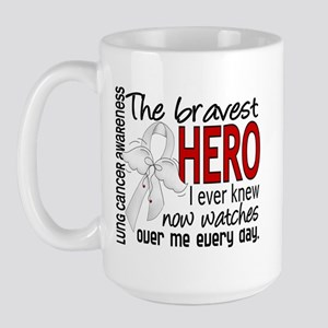 Bravest Hero I Knew Lung Cancer Large Mug