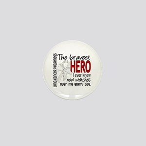 Bravest Hero I Knew Lung Cancer Mini Button