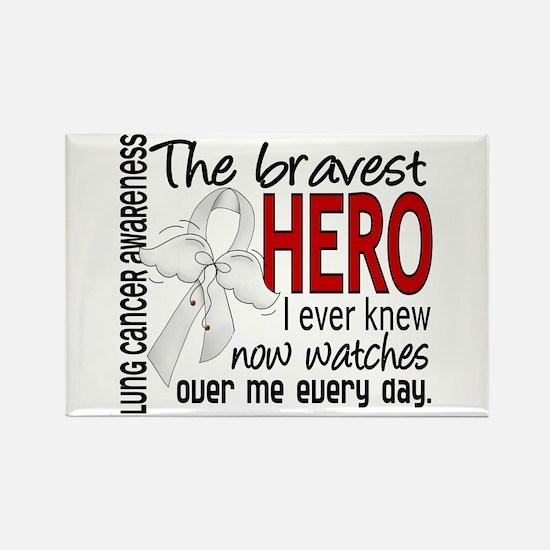 Bravest Hero I Knew Lung Cancer Rectangle Magnet