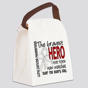 Bravest Hero I Knew Lung Cancer Canvas Lunch Bag