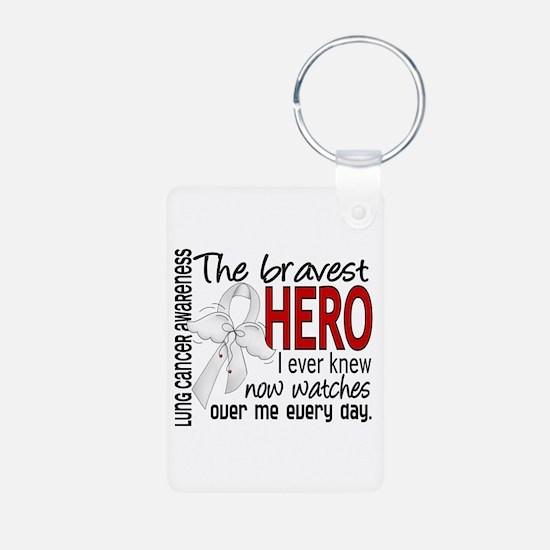 Bravest Hero I Knew Lung Cancer Keychains