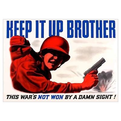 Digitally restored vector war propaganda poster. K Poster