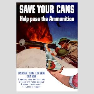Digitally restored vector war propaganda poster. S