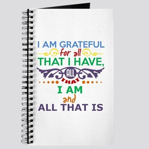 I Am Grateful Journal