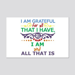 I Am Grateful Mini Poster Print