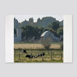 Cows in country 5'x7'Area Rug
