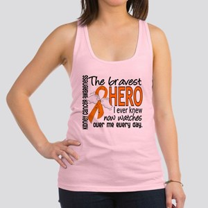 Bravest Hero I Knew Kidney Cancer Racerback Tank T