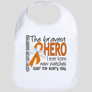 Bravest Hero I Knew Kidney Cancer Bib