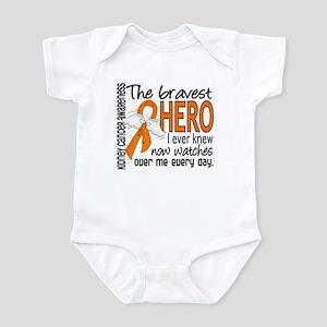 Bravest Hero I Knew Kidney Cancer Infant Bodysuit